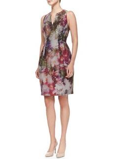 Kay Unger New York Sleeveless Floral-Print Dress