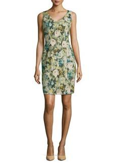 Kay Unger New York Sleeveless Floral Sheath Dress