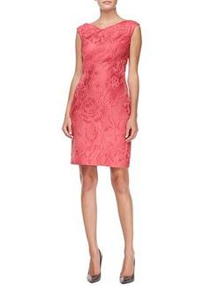 Kay Unger New York Sleeveless Jacquard Cocktail Dress