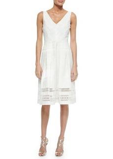 Kay Unger New York Sleeveless Jacquard Lace A-line Dress