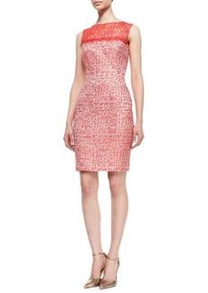 Kay Unger New York Sleeveless Lace Top Sheath Dress, Cherry