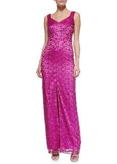 Kay Unger New York Sleeveless Metallic Long Gown