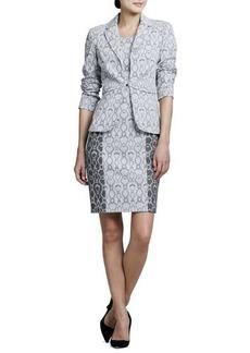 Kay Unger New York Snake-Print Jacket & Dress Set