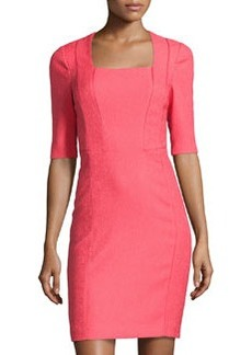 Kay Unger New York Square Neck Cocktail Dress, Pink