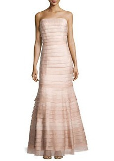 Kay Unger New York Strapless Tiered Lace/Organza Gown
