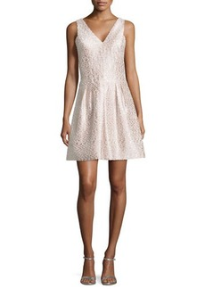 Kay Unger New York Tweed Party Dress, Pink