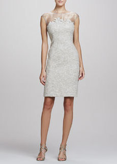 Kay Unger New York Tweed Sheath Dress