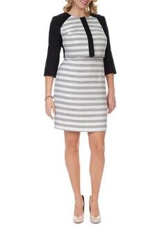 Kay Unger New York Women's 3/4-Sleeve Striped Cropped Jacket, Women's