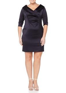Kay Unger New York Women's 3/4-Sleeve V-Neck Cocktail Dress, Women's