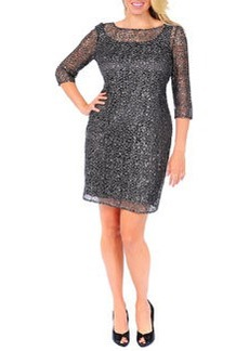 Kay Unger New York Women's Beaded & Sequined Lace Overlay Cocktail Dress, Women's