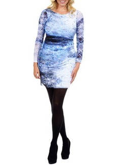 Kay Unger New York Women's Long-Sleeve Printed Sheath Dress, Women's