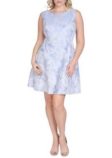 Kay Unger New York Women's Sleeveless Fit & Flare Jacquard Dress, Women's