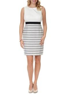 Kay Unger New York Women's Sleeveless Striped-Skirt Dress, Women's