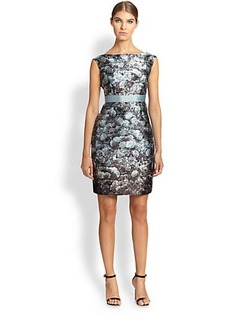 Kay Unger Ribbon-Belt Dress