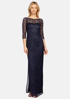 Kay Unger Sequin Lace Colum Gown