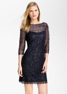 Kay Unger Sequin Lace Sheath Dress