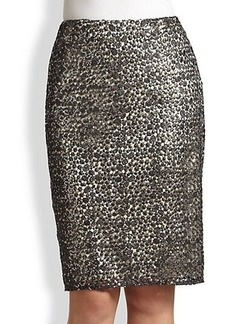 Kay Unger Sequined Lace Skirt