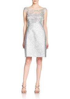 Kay Unger Sequined Tweed Sheath Dress