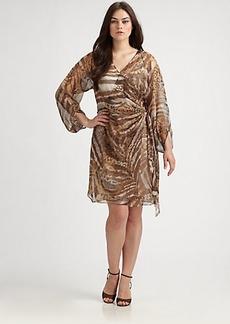 Kay Unger, Plus Size Animal-Print Dress