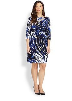 Kay Unger, Sizes 14-24 Animal-Print Dress