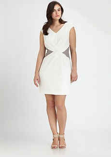 Kay Unger, Sizes 14-24 Color-Inset Dress
