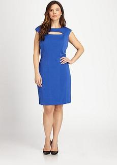 Kay Unger, Sizes 14-24 Cutout Knit Dress