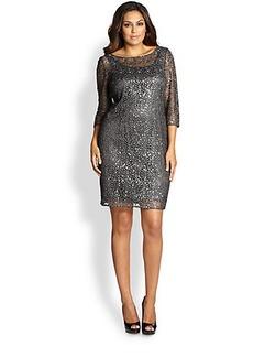 Kay Unger, Plus Size Embellished Cocktail Dress