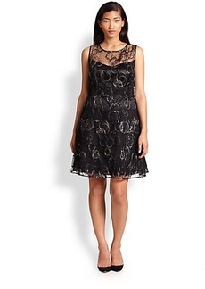Kay Unger, Sizes 14-24 Embroidered Lace Dress