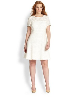 Kay Unger, Sizes 14-24 Fit-&-Flare Dress