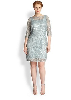 Kay Unger, Sizes 14-24 Lace Sheath Dress