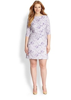 Kay Unger, Sizes 14-24 Stretch Lace Dress