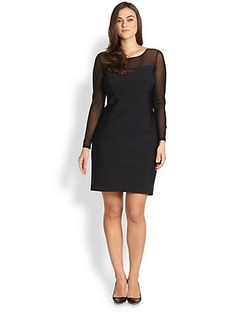 Kay Unger, Sizes 14-24 Textured-Mesh Dress