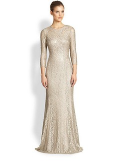 Kay Unger Stretch Lace Gown