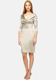 Kay Unger Stretch Satin Sheath Dress