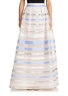Kay Unger Striped Ball Skirt