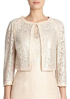 Kay Unger Tweed & Lace Jacket
