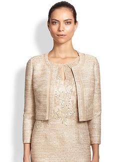 Kay Unger Tweed Cropped Jacket