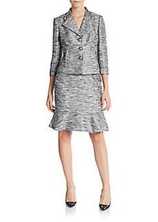 Kay Unger Tweed Skirted Suit