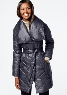 Kenneth Cole Belted Puffer Coat