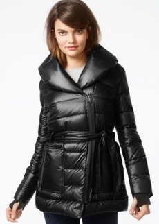 Kenneth Cole Belted Quilted Down Puffer Jacket