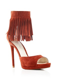 Kenneth Cole Bloomingdale's Exclusive Geneva Fringe Ankle Strap Open Toe Pumps