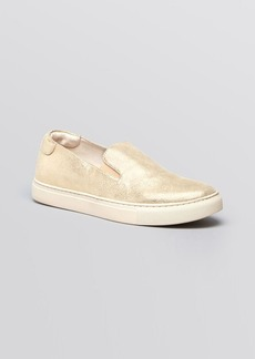 Kenneth Cole Flat Slip On Sneakers - King Metallic