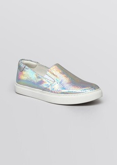 Kenneth Cole Flat Slip On Sneakers - Mirror Metallic King
