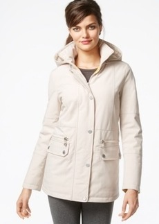 Kenneth Cole Hooded Quilt-Lined Raincoat