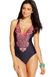Kenneth Cole Jewel-Print One-Piece Swimsuit Women's Swimsuit