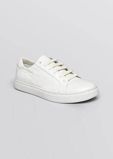 Kenneth Cole Lace Up Flat Sneakers - Kam Court