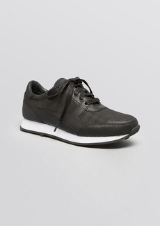 Kenneth Cole Lace Up Sneakers - Dewey Houndstooth