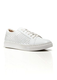 Kenneth Cole Lace Up Wedge Sneakers - Kam Studded