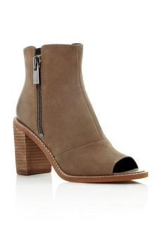 Kenneth Cole Lacy Open Toe Mid Heel Booties