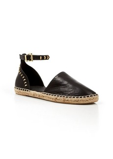 Kenneth Cole Leather Espadrille Flats - Blaire